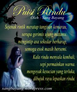 Puisi Rindu